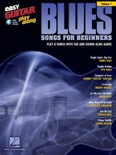 Blues Songs for Beginners - Easy Guitar Play-Along Book and Audio New 000103235