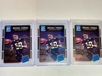 🔥 3X 2016 DONRUSS OPTIC RATED ROOKIE MICHAEL THOMAS RC LOT - SAINTS