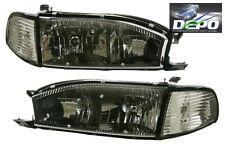 92 94 Toyota Camry Black Trim Diamond Headlights Corners 4pcs Set Depo