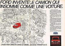 PUBLICITE ADVERTISING 064  1984  FORD  le nouveau TRANSIT DIESEL 2.5d ( 2p)
