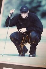 Tiger Woods Championship Focus Gold Stamped Autographed Photo in Frame
