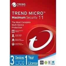 TREND MICRO la massima sicurezza 11 (2017) | 1 anno di licenza | 3 dispositivi
