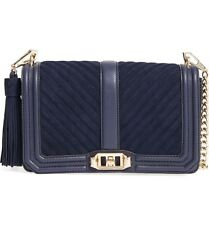 NWT Rebecca Minkoff LOVE Chevron Quilted Crossbody BAG MOON Navy Blue $295+ AUTH