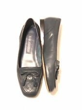 Enzo Angiolini Womens Flat Shoes Loafers Blue Leather w/Tassel Sz 4.5M