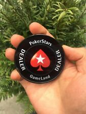 Round Crystal Dealer Button Acrylic PokerStars Cards Press Quality Transparent