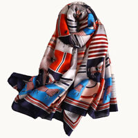 Silk Scarf Luxury Brand 2019 designer Woman Scarves Ladies Long Shawl Wraps