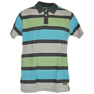 Red Jacket Collar Polo Striped Lines Button Dress Shirt Mens Adult Blue, Green