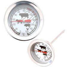 Termometro Per Carne in Acciaio Inox 11 x 5 cm Per Tutti i Tipi Di Carne Pollame