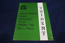 TRIUMPH TRIDENT T160 GENUINE PARTS CATALOGUE ILLUSTRATED PARTS LIST 1975 MODELS