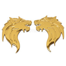 "Pair 3""X2"" 3D Emblem Decal Motorcycle Fairing Fender Sticker Gold For Benelli"