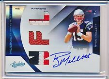 RYAN MALLETT 2011 PANINI ABSOLUTE RPM PRIME PATCH AUTOGRAPH AUTO RC #'D 18/25