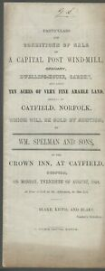 PARTICULARS OF SALE CAPITAL POST WINDMILL  CATFIELD NORFOLK 1849