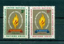 Nations Unies New York 1963 - Michel n. 136/37 -  Droits de l'Homme