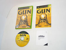 GUN complete in box with manual Xbox videogame
