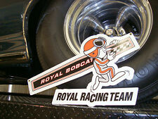 "Ace Wilson's Royal Racing Team Vintage Metal Sign - Large 20"" x 12"" Bobcat GTO"