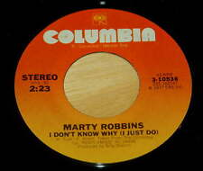 Marty Robbins 45 I Don't Know Why (I Just Do) / Inspiration For A Song