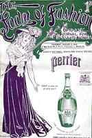 perrier water advert 1906 art modern painting  print retro  antique vintage