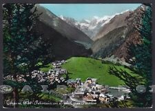 VALLE D'AOSTA COGNE 74 GRAN PARADISO Cartolina FOTOGRAFICA viaggiata 1960