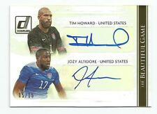 2015 Donruss Soccer Jozy Altidore/Tim Howard Beautiful Game Dual Auto Gold /15