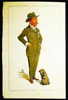 """Bisley Camp"" Lt.-Colonel Charles Robert Crosse Vanity Fair 1912 Wallace Hester"