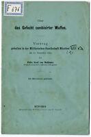 Felix Graf von Bothmer: Ueber das Gefecht combinirter Waffen von 1884
