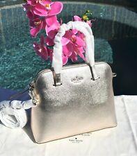🌸 Kate Spade Maise Metallic Blush Medium Dome Satchel Shoulder Bag NEW $298