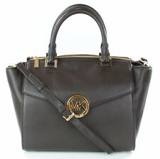 Michael Kors Hudson marrone scuro in pelle borsa borsa a tracolla borsa grande