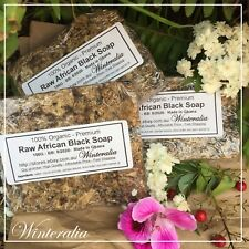 ON SALE! 300g Organic Raw African Black Soap - From Ghana - Premium Quality