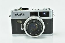 MINOLTA HI MATIC E CAMERA with ROKKOR QF 1:1.7 F=40mm LENs in LEATHER CASE 00093