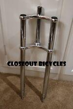 "26x4"" Triple Tree FAT TIRE Disc Tab BICYCLE Bike Fork 1 1/8"" Threadless Chrome"