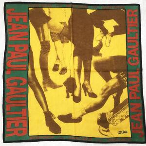 Jean Paul Gaultier Hankie Cotton Bandana Vintage Picture Art Ideas Handkerchief