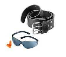 Dewalt DWST 1-75661 Resistente Cinturón De Cuero Negro + Gafas de seguridad con tapones para los oídos