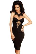Vestito donna elegante merletto sexy abito da sera vestitino cerimonia DS61703