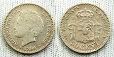 ALFONSO XIII 50 CENTIMOS 1894*9-4 MADRID VF/VF+/MBC/MBC+ SILVER/PLATA 2,5 g.
