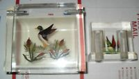 Vintage Lucite Duck Salt And Pepper Shakers And Lucite Ducks Box! Very Nice!