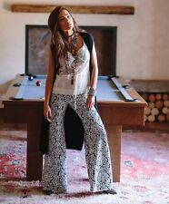 NWT $187 Nightcap Jacquard Lace Bell Bottoms Pants Size 2
