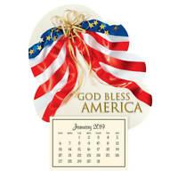 Mini Magnetic Calendar Patriotic