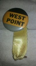 "WEST POINT -  pin button vintage 1.1/8"" with original ribbon"