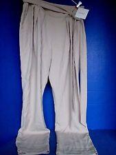 ELLEN TRACY~Beige Fawn DRESS PANTS~Belt~Women's 14 ~NWT