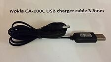 Nokia CA-100C USB charger cable 3.5mm fit 3310 3330 3410 8210 8250 5210