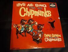 Rare couleur rouge 1959 permet aux chantent Tous avec les Tamias LP record DAVID sevil