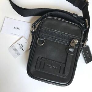 Coach * Men's Bag F72963 QB/BK Terrain Crossbody Smooth Leather Black