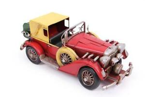 Fast shipping/Antique red old car model-desk accessory-hand-made handpaint car