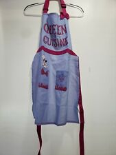 """New listing Disney Parks 2020 Epcot Food & Wine Minnie Mouse """"Queen of Cuisine� apron New"""