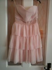 LADIES PINK STRAPLESS SUMMER PARTY DRESS SIZE 6 BNWT