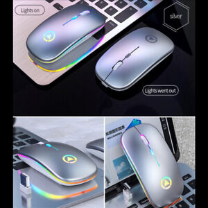 USB PC Laptop Rechargeable Mouse Wireless & Wired Slim Optical Charging Mouse