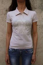 CK Calvin Klein pour femme à manches courtes rose Polo Top T-shirt stretch authentique M