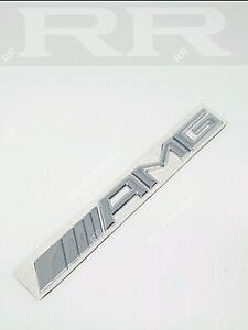 Chrome AMG LOGO Badge Emblem Quality Mercedes Benz C63 Turbo V8  CLA GLA GLC NOS
