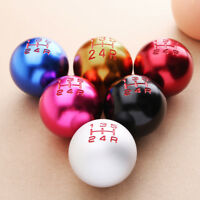 5 Speed Aluminum Round Ball Type Manual Car Gear Shift Shifter Knob For   # .-