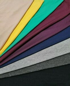 Premium Quality Stone Viscose 4 Way Stretch Soft Jersey Lycra Fabric Rayon Material